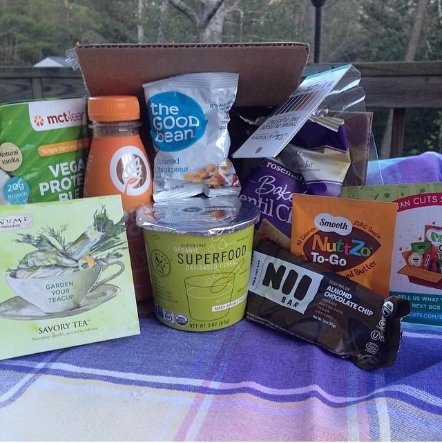 Here's another example of an earlier Snack Box from April.
