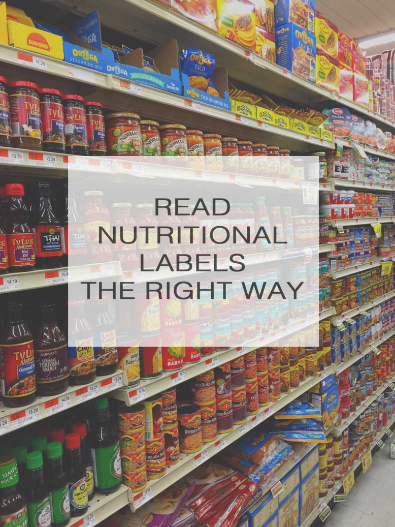 Read Nutrition Labels the Right Way